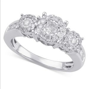 Size 7 Engagement Ring (3/4 ct. t.w.) in 14k Gold